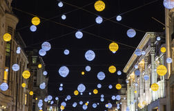 Oxford Street Christmas Lights in London Royalty Free Stock Photography