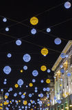 Oxford Street Christmas Lights in London Stock Images