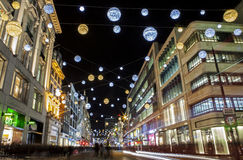 Oxford Street Christmas Lights in London Stock Photography