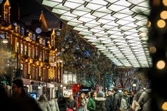 Oxford street in Christmas time, London Royalty Free Stock Image