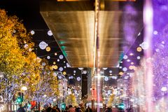 Oxford street in Christmas time, London Stock Photos