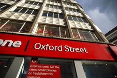 Oxford Street in London Stock Photography