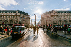 Oxford Street, London, 13.05.2014 Royalty Free Stock Image