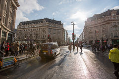 Oxford Street, London, 13.05.2014 Royalty Free Stock Photos