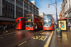Oxford Street, London, 13.05.2014 Royalty Free Stock Photo