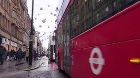 Oxford Street, Londra, Inghilterra stock footage