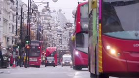 Oxford Street, Londres, Inglaterra almacen de video