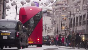 Oxford Street, Londres, Inglaterra almacen de video