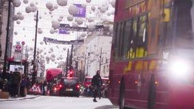 Oxford Street, Londres, Inglaterra almacen de metraje de vídeo