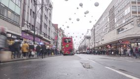 Oxford Street, Londres, Inglaterra video estoque