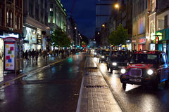 Oxford Street by Night Royalty Free Stock Images