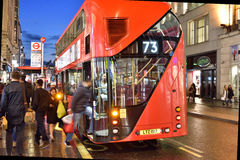 Oxford Street by Night Royalty Free Stock Photo
