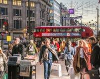 Oxford Street no Natal, Londres foto de stock