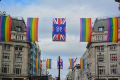 Oxford street in Pride weekend Stock Image
