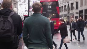 Oxford street shoppers, London, England stock video