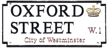 Oxford Street sign Stock Images