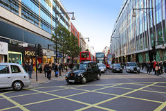Oxford Street traffic Royalty Free Stock Photo