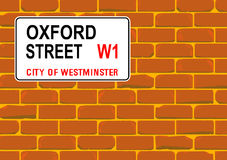 Oxford Street Wall Royalty Free Stock Image