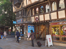 Oxford 14th century half-timbered building Royalty Free Stock Images