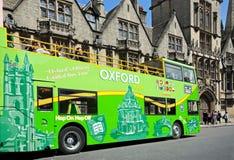 Oxford tour bus. Stock Photo