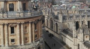 Oxford town Stock Photography