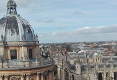 Oxford town Stock Image