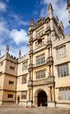 Bodleian Library of the University of Oxford Oxfordshire South E. OXFORD, UK - JUN 15, 2013: The Tower of the Five Orders of the Bodleian Library of the Royalty Free Stock Image
