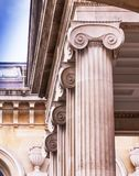 Oxford. England. UK. Ashmolean Museum. Oxford, UK - June 08, 2015: Column. Ashmolean Museum of Art and Archaeology . It is the world`s first university museum Royalty Free Stock Photos
