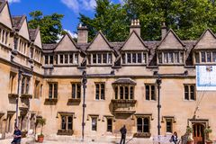 Courtyard of Old Quadrangle of Brasenose college of Oxford University royalty free stock photos