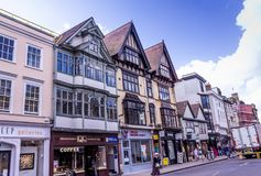 Street view of High Street in Oxford, UK royalty free stock photos