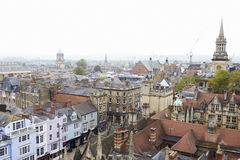 OXFORD/ UK- OCTOBER 26 2016: Aerial View Of Oxford City Showing College Buildings And Shops Royalty Free Stock Photo