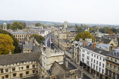 OXFORD/ UK- OCTOBER 26 2016: Aerial View Of Oxford City Showing College Buildings And Spires Stock Photos