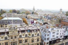 OXFORD/ UK- OCTOBER 26 2016: Aerial View Of Oxford City Showing College Buildings And Spires Stock Photo