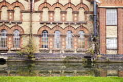 OXFORD/ UK- OCTOBER 26 2016: Exterior Of Victorian Factory By Canal In Oxford Stock Images