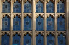 Oxford universitet Windows royaltyfri foto