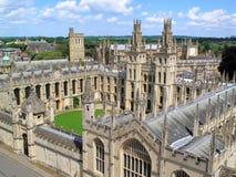 Oxford Universityâs toda la universidad de las almas Imagen de archivo libre de regalías