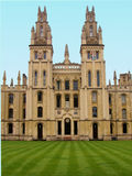 Oxford University. The towers of All Souls College at Oxford University, England Royalty Free Stock Photos