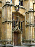 Oxford University, Bodleian library. Close view of the entrance to this historic library building stock photography