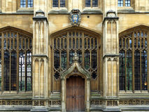 Oxford University, Bodleian library. Close view of the entrance to this historic library building royalty free stock photos