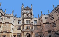 Oxford University, Bodleian Library. View from courtyard royalty free stock photography
