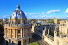 Oxford. The Oxford University City, Photoed in the top of tower in St Marys Church. All Souls College, United Kingdom, England