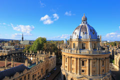 Oxford. The Oxford University City, Photoed in the top of tower in St Marys Church. All Souls College, United Kingdom, England Royalty Free Stock Photo