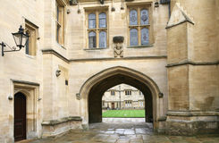 Oxford University,  College Courtyard Stock Images