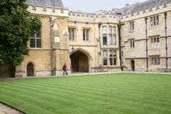 Oxford University,  College Courtyard Royalty Free Stock Photo