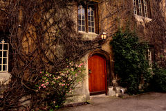 Oxford University / college old door to the campus , England Royalty Free Stock Photo