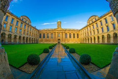 Oxford University courtyard royalty free stock images