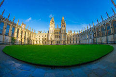 Oxford University courtyard Royalty Free Stock Photo