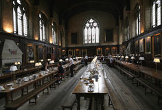 Oxford university dining hall royalty free stock photography