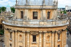 Oxford University, library Stock Photo