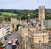Oxford University and main street Stock Photography